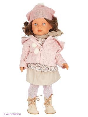 Кукла Белла зимний наряд, 45 см Antonio Juan. Цвет: бледно-розовый