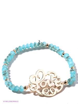 Браслет Taya. Цвет: светло-голубой, золотистый