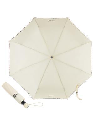 Зонт складной Moschino 7000-OCI Embroidery Cream. Цвет: бежевый