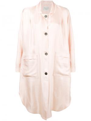 Пальто на пуговицах Forte. Цвет: розовый и фиолетовый