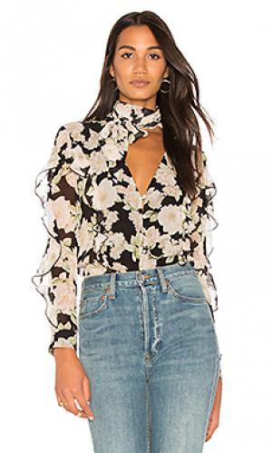 Блуза с завязкой на шее NICHOLAS. Цвет: черный