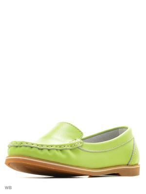 Мокасины Tervolina. Цвет: зеленый