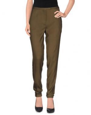 Повседневные брюки ROBERTA FURLANETTO. Цвет: зеленый-милитари