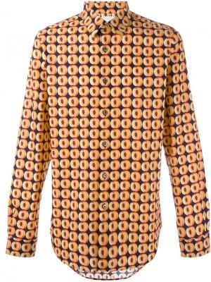 Рубашка с мелким принтом Paul Smith. Цвет: синий