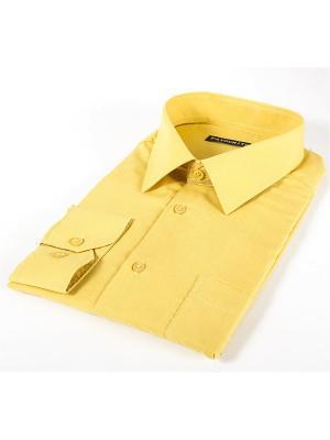 Рубашка Favourite. Цвет: светло-желтый