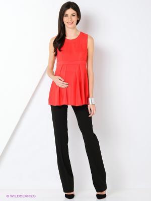 Блузка-топ MammySize. Цвет: красный