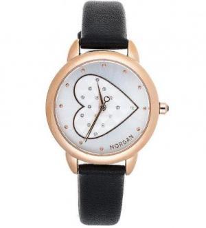 Часы из нержавеющей стали с отделкой кристаллами Morgan