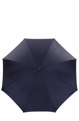 Зонт-трость с принтом Pasotti Ombrelli. Цвет: темно-синий