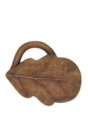 Деревянный клатч Ruban. Цвет: коричневый