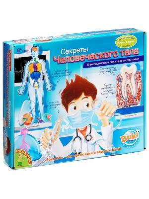 Французские опыты Науки с Буки Bondibon  (8 экспериментов) Секреты человеческого тела. Цвет: голубой