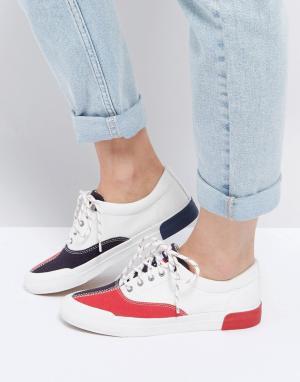Tommy Jeans Классические парусиновые кроссовки. Цвет: мульти
