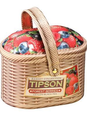 Чай Tipson Лукошко-Лесные ягоды/Basket-Forest berries 100 ж/б. Цвет: черный