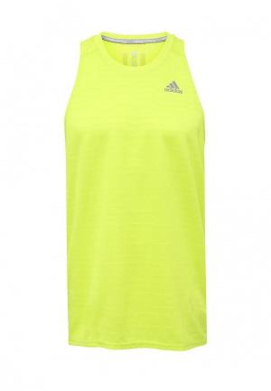 Майка спортивная adidas Performance. Цвет: зеленый