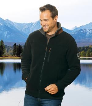 Флисовая Куртка с Подкладкой из Шерпы AFM. Цвет: черныи