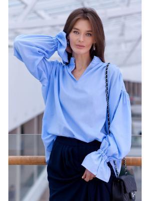Блузка RUXARA. Цвет: голубой