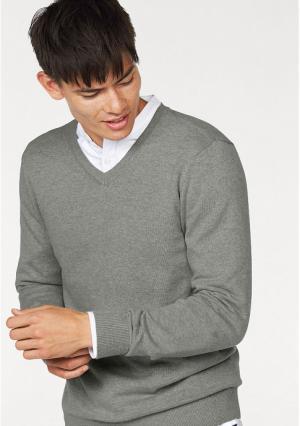 Пуловер JOHN DEVIN. Цвет: светло-серый меланжевый