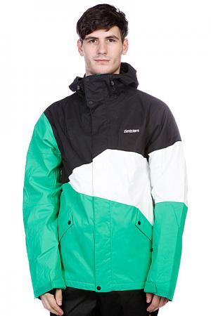 Куртка  Snow Jacket Inventor Men Green Zimtstern. Цвет: белый,зеленый,черный