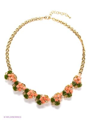Колье Migura. Цвет: золотистый, персиковый, зеленый