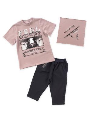 Комплект одежды Апрель. Цвет: темно-бежевый, темно-серый