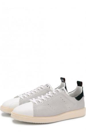 Комбинированные кеды Starter на шнуровке Golden Goose Deluxe Brand. Цвет: белый