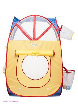 Игровая палатка Наша Игрушка. Цвет: желтый, синий, красный