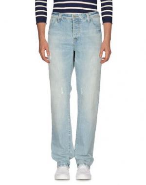 Джинсовые брюки MARVILLE. Цвет: синий