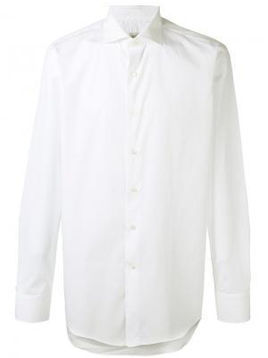 Рубашка с косым воротником Alessandro Gherardi. Цвет: белый
