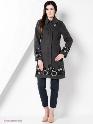 Пальто PALEFF. Цвет: серый