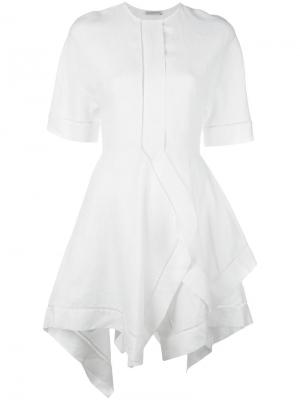 Платье с асимметричным подолом J.W.Anderson. Цвет: белый