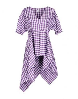Короткое платье AKEP. Цвет: фиолетовый