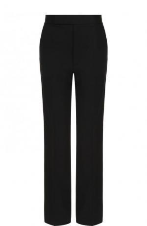 Шерстяные расклешенные брюки с лампасами Helmut Lang. Цвет: черный