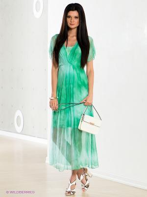 Платье COMPAGNIA ITALIANA. Цвет: зеленый