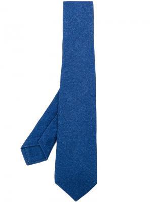 Классический галстук Kiton. Цвет: синий