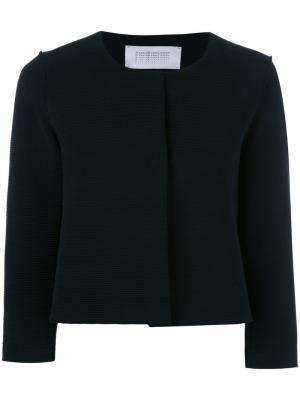 Укороченный пиджак с рукавами три четверти Harris Wharf London. Цвет: чёрный