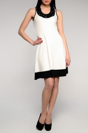 Платье PunkQueen. Цвет: черный, белый