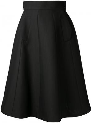 Расклешенная юбка миди А-образного силуэта Martin Grant. Цвет: чёрный