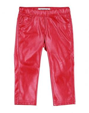 Повседневные брюки SIMONETTA MINI. Цвет: красный