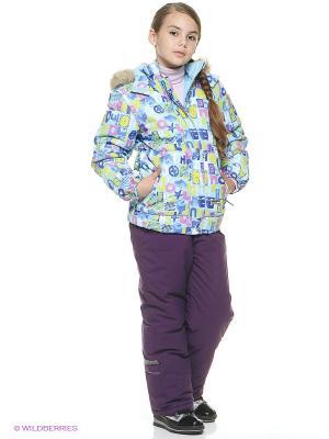 Куртка для девочки Cherubino. Цвет: голубой