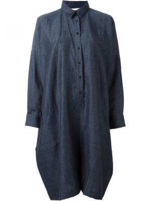 Платье-рубашка Alto Reality Studio. Цвет: синий