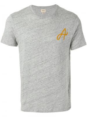 Initial print T-shirt Bellerose. Цвет: серый