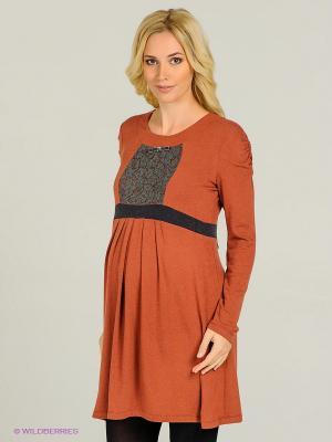 Платье Gemko. Цвет: коричневый