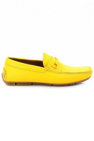 Мокасины Moschino. Цвет: желтый
