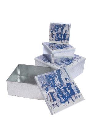 Набор коробок Семья,3 штук DAVANA. Цвет: синий
