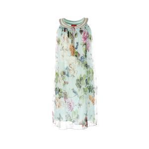 Платье длинное, без рукавов RENE DERHY. Цвет: цветы/синий