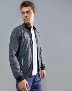 Umbro Серая спортивная куртка. Цвет: серый
