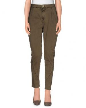 Повседневные брюки E_GO' SONIA DE NISCO. Цвет: хаки