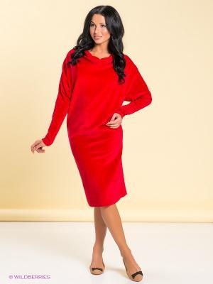 Платье LOVE&LIGHT. Цвет: красный