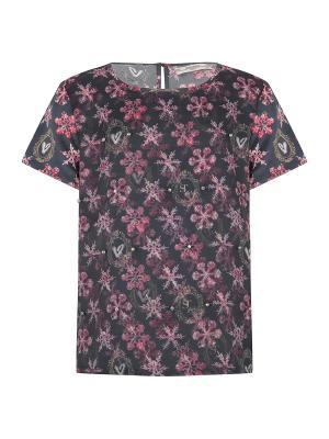 Блуза, BADI, цвет темнно-серый/мульти (SHIMMER SNOWSTAR) SUPERTRASH. Цвет: темно-серый, сиреневый
