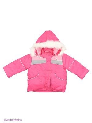 Куртка Babycollection. Цвет: розовый, серый