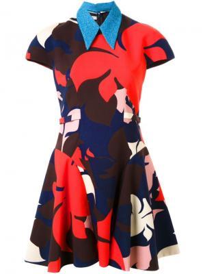 Расклешенное платье с цветочным принтом Delpozo. Цвет: многоцветный
